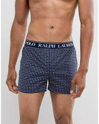 Polo Ralph Lauren - Slim Fit Paisley Print Woven Boxer Logo Waistband In Navy/red - Lyst
