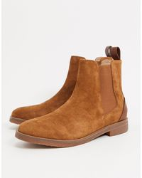 Reiss Rogers Chelsea Boots - Brown