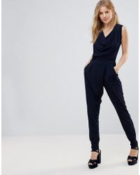 Wal-G - Cowl Front Jumpsuit - Lyst