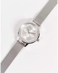 Olivia Burton Серебристые Часы С Пчелой На Циферблате И Сетчатым Ремешком -серебряный - Металлик