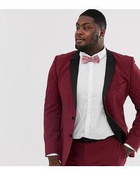 ASOS Plus Super Skinny Tuxedo Suit Jacket - Red