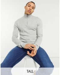 French Connection Tall Half Zip Knit Sweater - Multicolour