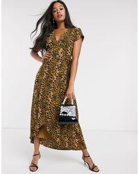 FABIENNE CHAPOT Archana Leopard Print Midi Dress - Brown