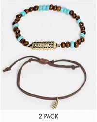 Classics 77 2 Pack Wooden Bead Bracelets - Black