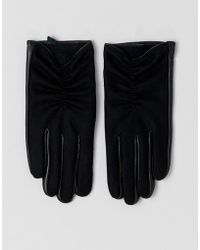 ASOS - Wool And Leather Mix Glove - Lyst