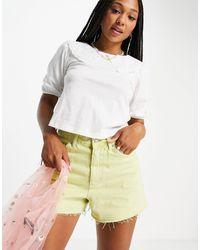 Miss Selfridge T-shirt avec col brodé - Blanc
