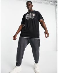 Liquor N Poker Camiseta negra extragrande con logo - Negro