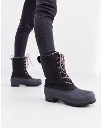 HUNTER Короткие Ботинки -черный
