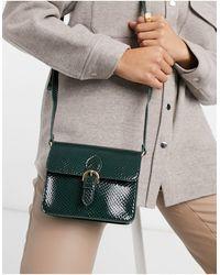 ASOS Bolso satchel verde