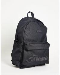 Ellesse Ellese Mono Logo Backpack - Black