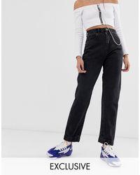 Collusion X006 - Mom Jeans - Zwart