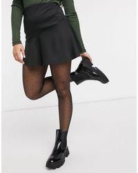 New Look Черная Расклешенная Мини-юбка -черный