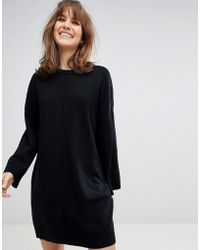 ASOS - Design Oversized Dress With Wide Sleeve - Lyst