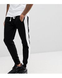 Liquor N Poker Joggers With Side Stripe And Ankle Zip - Black