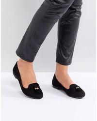 New Look Tassel Tab Front Shoe - Black