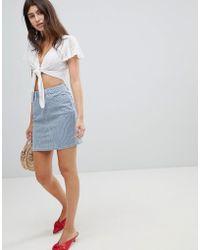 Esprit - Stripe Mini Skirt - Lyst