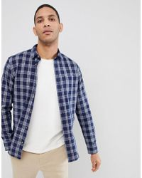 SELECTED - Slim Fit Shirt With Checks - Lyst