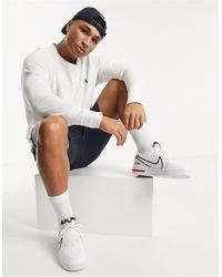 Polo Ralph Lauren Sweat-shirt léger en tissu-éponge bouclé avec logo joueur - Blanc