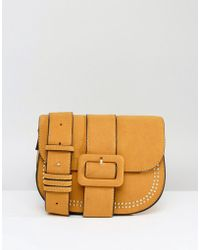 Yoki Fashion - Yoki Buckle Front Saddle Bag - Lyst
