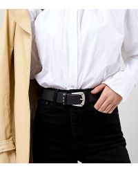 Retro Luxe London - Retro Luxe Western Belt With Stud Detail - Lyst