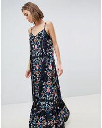Sabina Musayev - Abstract Floral Maxi Dress - Lyst