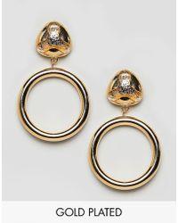 Gogo Philip - P Drop Hoop Earrings - Lyst
