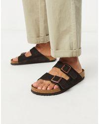 Birkenstock Замшевые Сандалии Arizona-коричневый