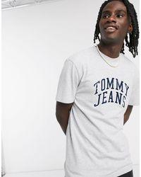 Tommy Hilfiger Серая Меланжевая Футболка С Логотипом -серый - Многоцветный