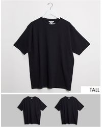 Another Influence Tall 2 Boxy Oversized T-shirt - Black