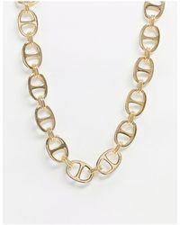 Pieces - Золотистое Массивное Ожерелье-цепочка -золотистый - Lyst
