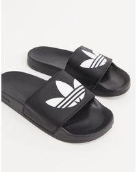 adidas Originals Черные Шлепанцы Adilette Lite-черный