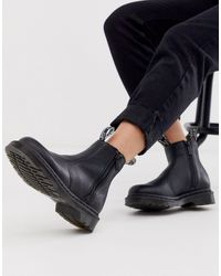 Dr. Martens 2976 Zip Leather Ankle Boots - Black