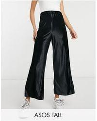 ASOS Asos Design Tall Culotte Trouser - Black
