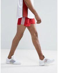 ASOS - Slim Shorter Runner Shorts In Red - Lyst