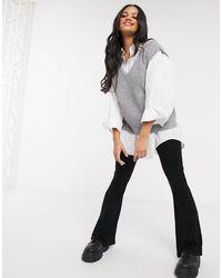 Stradivarius Knit Vest - Grey