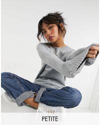 Vero Moda - Jersey gris con cuello redondo - Lyst