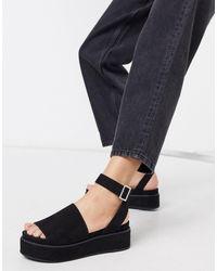 ASOS Taylor Flatform Sandals - Black