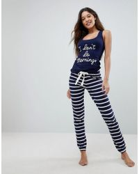Boux Avenue Pijama I Don't Do Mornings de - Azul