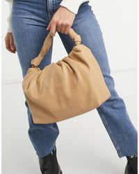 Mango Pleated Volume Bag - Brown