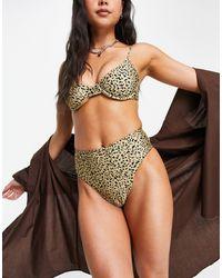 Volcom Ur An Animal - Slip bikini a vita alta - Multicolore