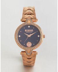 Versus - Spci38 V Crystal Bracelet Watch In Rose Gold - Lyst