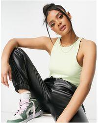 NA-KD X Louise Madsen High Neck Singlet - Green