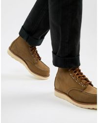 Red Wing - 6 Inch Classic Moc Toe Boots In Olive Suede - Lyst