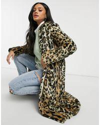 Free People – Chloe – Duster-Mantel mit Leopardenprint - Mehrfarbig