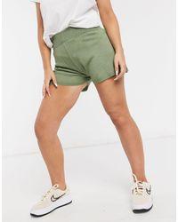 Fashionkilla Трикотажные Шорты Для Бега Цвета Хаки -зеленый Цвет