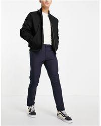 Burton Burton – Karierte Anzughose mit engem Schnitt - Blau