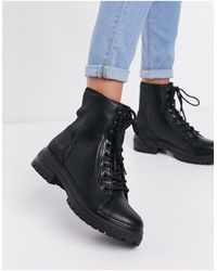 Call It Spring By Aldo Alexia Vegan Chunky Lace Up Boot - Black
