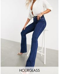 ASOS Hourglass 'lift And Contour' Flare Jeans - Blue