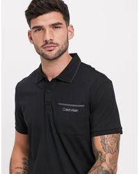 Calvin Klein Футболка-поло -черный