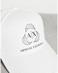 Armani Exchange Белая Бейсболка С Большим Логотипом -белый
